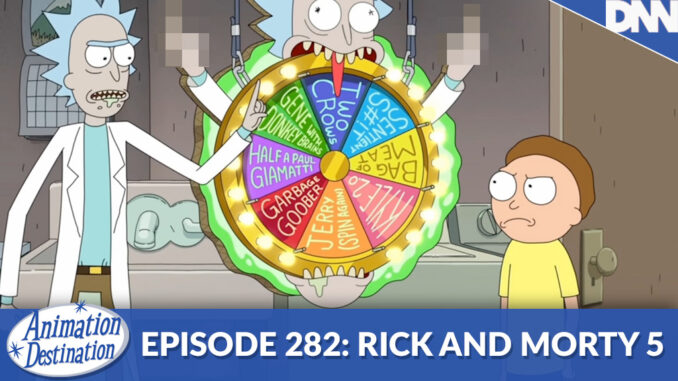 RIck showing Morty his wheel of replacement Morty's