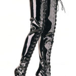 Pleaser Ultra Shiny Thigh High 5″ Boots