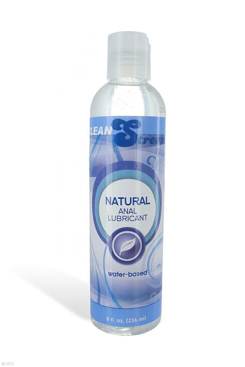 CleanStream Natural Water Based Anal Lubricant (8 oz/236ml)