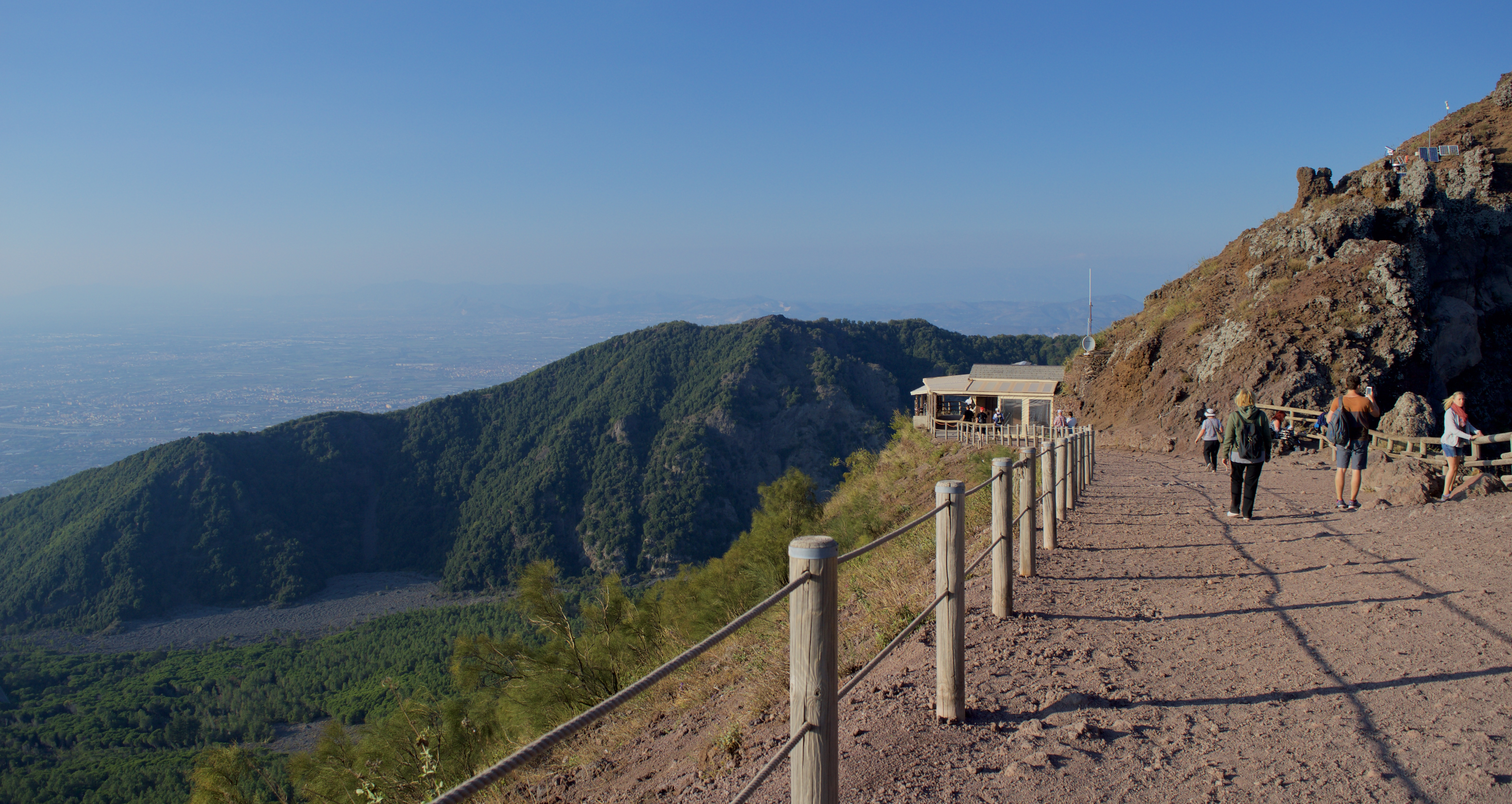 View from the summit of Mount Vesuvius