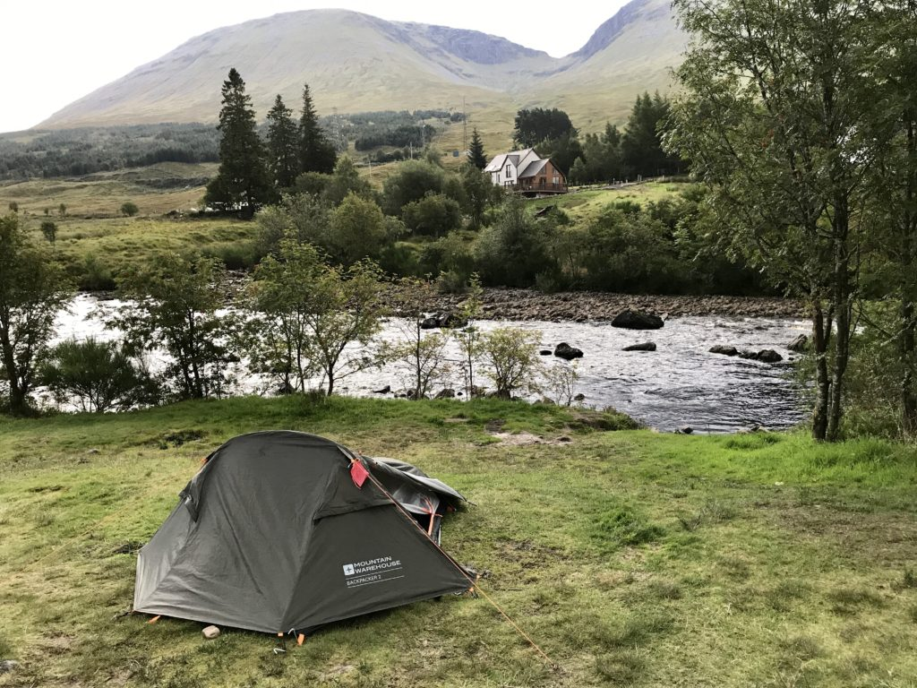 Wild camping Bridge of Orchy