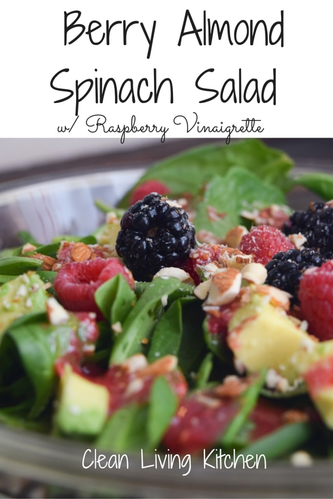 Berry Almond Spinach Salad