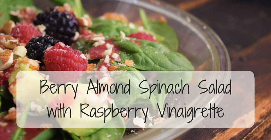 Berry Almond Spinach Salad with Raspberry Vinaigrette