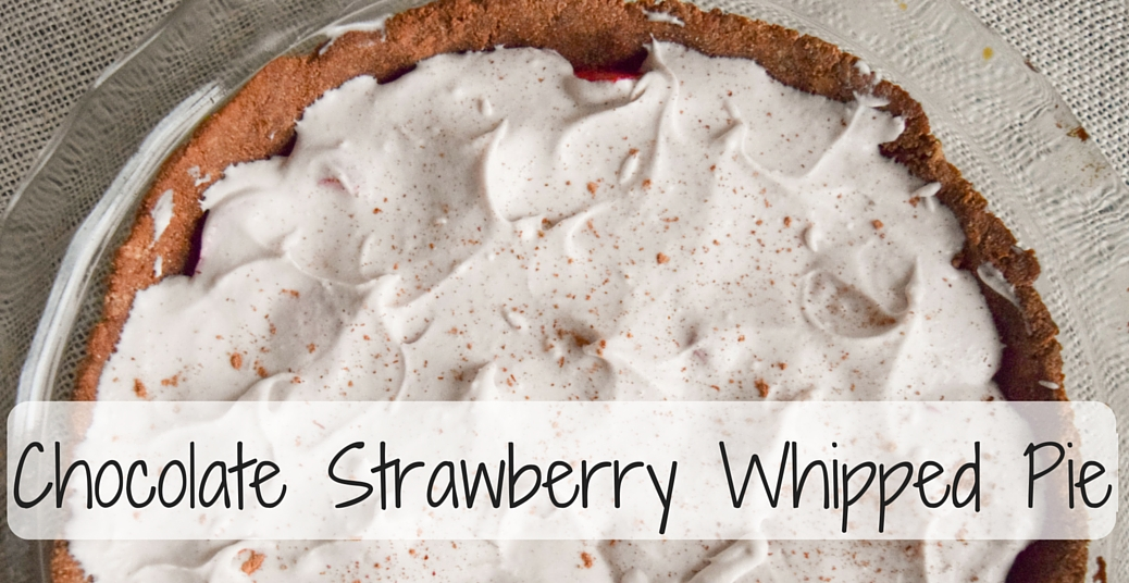 Chocolate Strawberry Whipped Pie