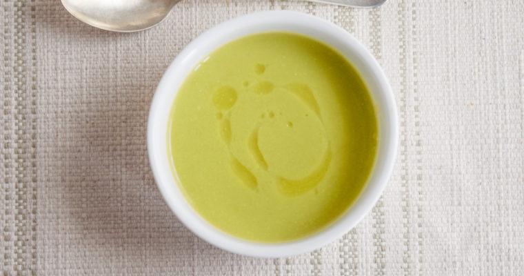 Creamy Asparagus Pea Soup