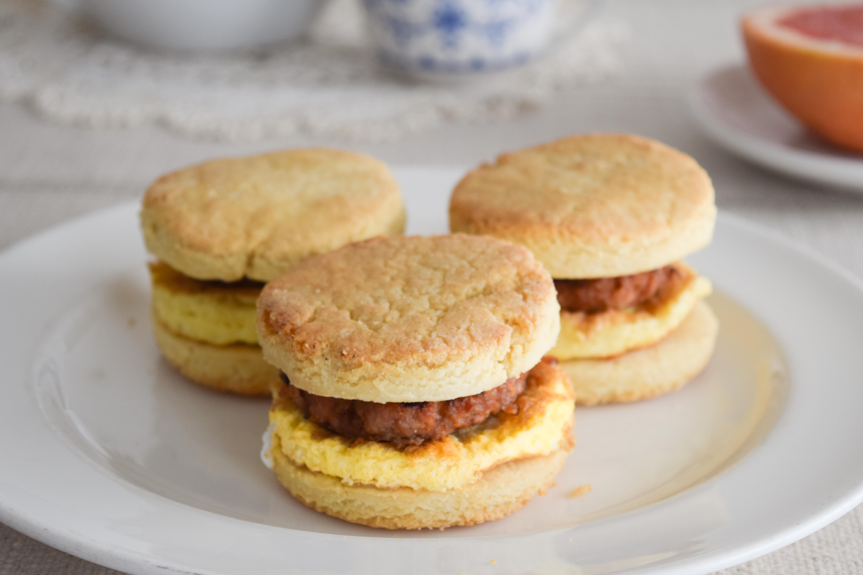 Paleo Sausage Egg Biscuits
