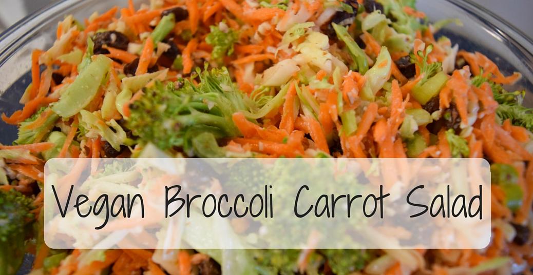 Vegan Broccoli Carrot Salad