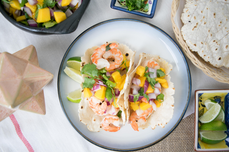 Paleo Shrimp Tacos with Cassava Flour Tortillas
