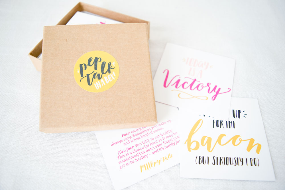 Need a Pep Talk? Paleo Pep Talk Cards to the Rescue!