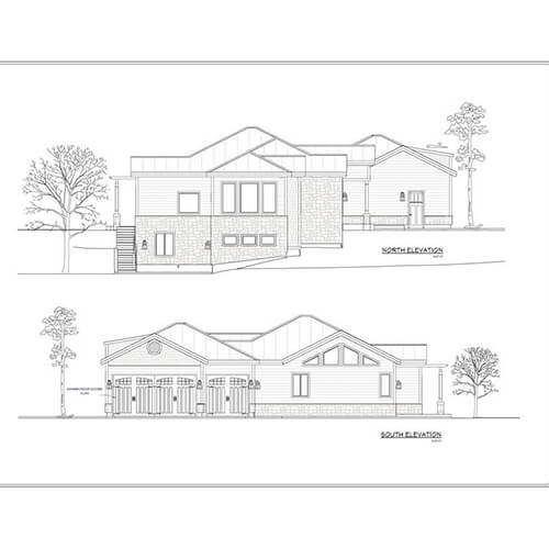 CAD drawing of a house