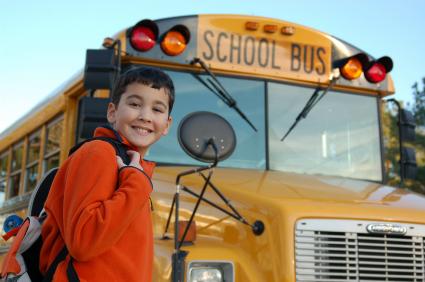 Boy going to School