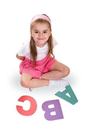 Girl Sitting Learning