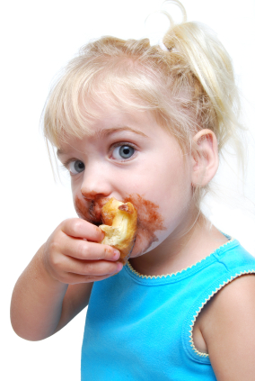 Young Girls Is A Messy Eater