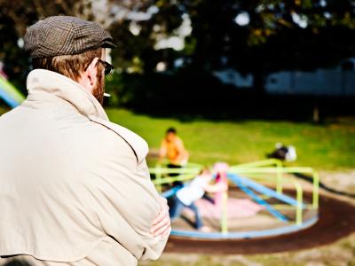 Stranger at park