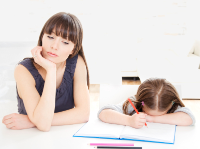 Girl Not Happy About Homework