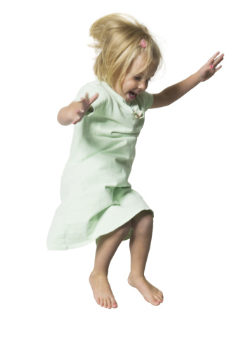 preschooler jumping