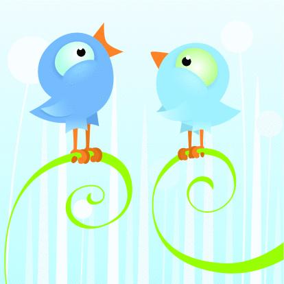 Two birds singing