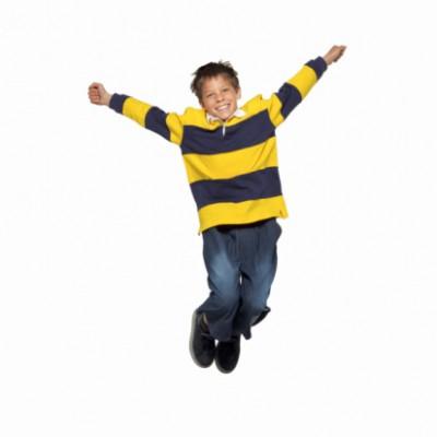 Happy child jumping