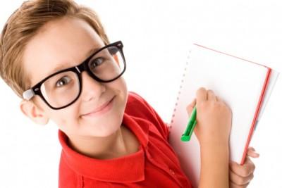 Child practicing handwriting