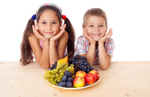 boy and girl with snack