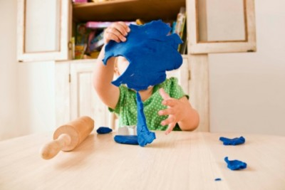 child with putty