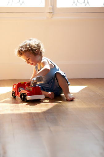 boy with truck