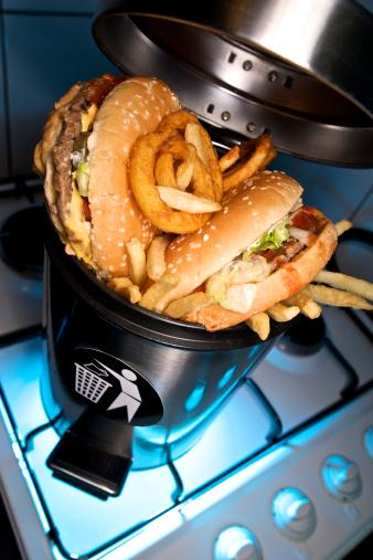 junk food garbage