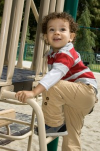 playground with toddler