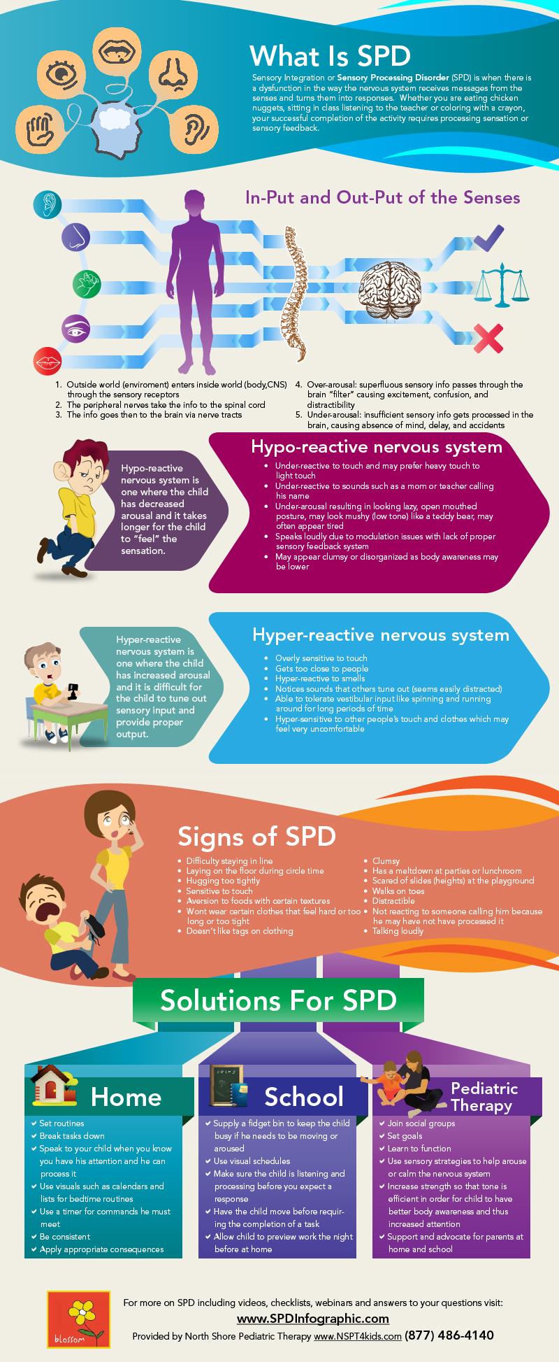 Sensory Processing Disorder SPD Infographic
