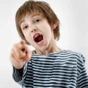 Boy yelling