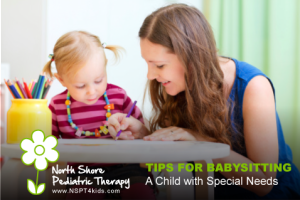 Tips for babysitting a child with special needs.