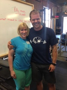 Coach Kelly with Kelly Starrett, Mobility Guru, at her Mobility certification course.