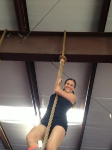 Michelle came in with a mission today and nailed several rope climbs!  Great work!