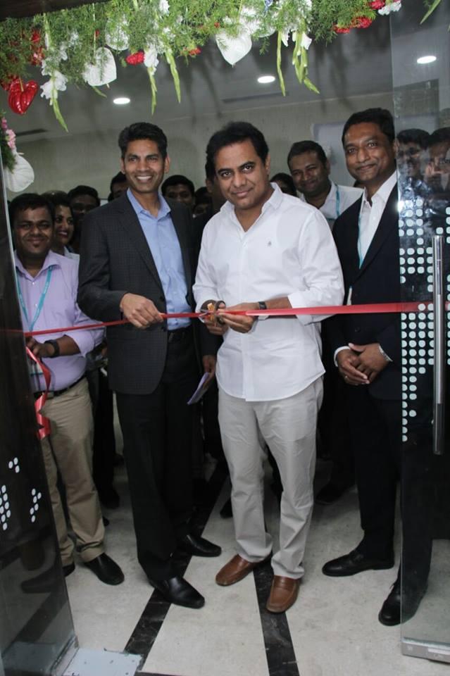 KT Rama Rao formally inaugurates the Hyderabad facility of Jade Global