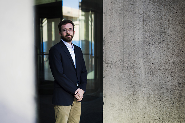 Northeastern's William R. Hobbs and colleagues suggest that Facebook use is associated with longer life, particularly if the time spent online is moderate and the user's online activities reflect strong social interactions in the offline world. Photo by Adam Glanzman/Northeastern University
