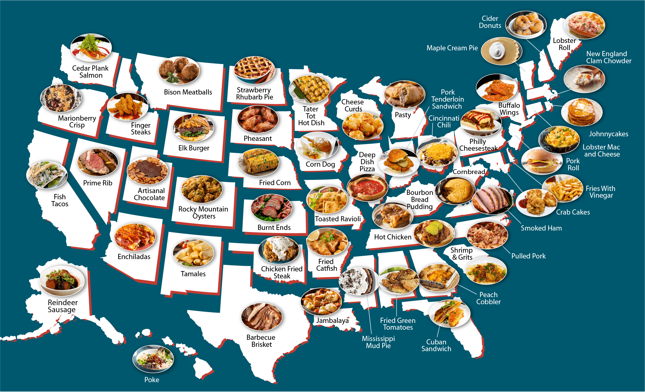 Flavored Nation National Dish Map
