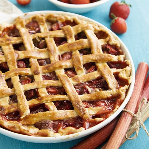 North Dakota - Strawberry Rhubarb Pie