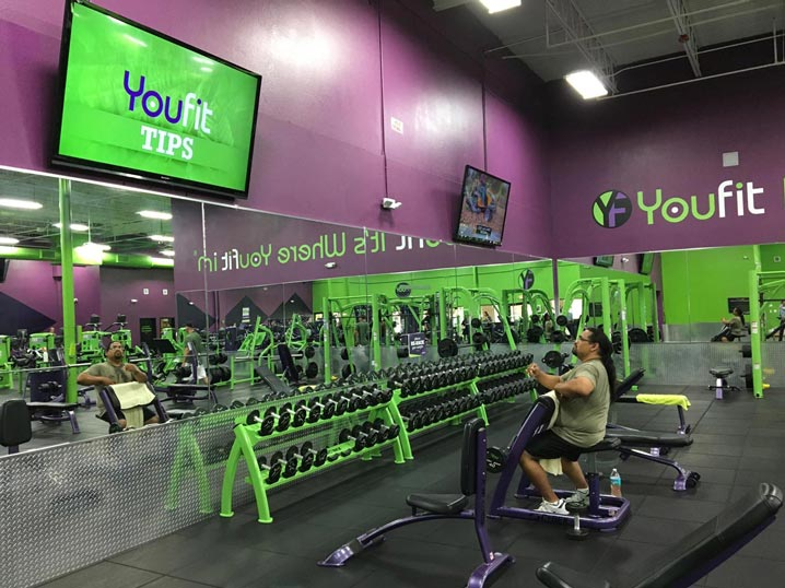 Fitness Center Digital Displays