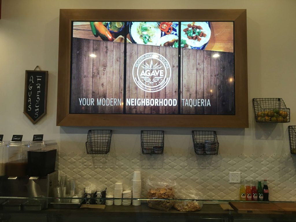 Digital Video Wall for Agave Restaurant