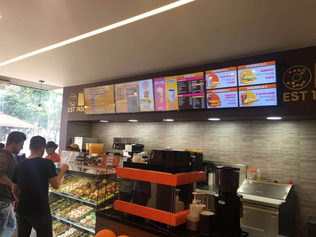 Digital Menu Boards for Dunkin Donuts