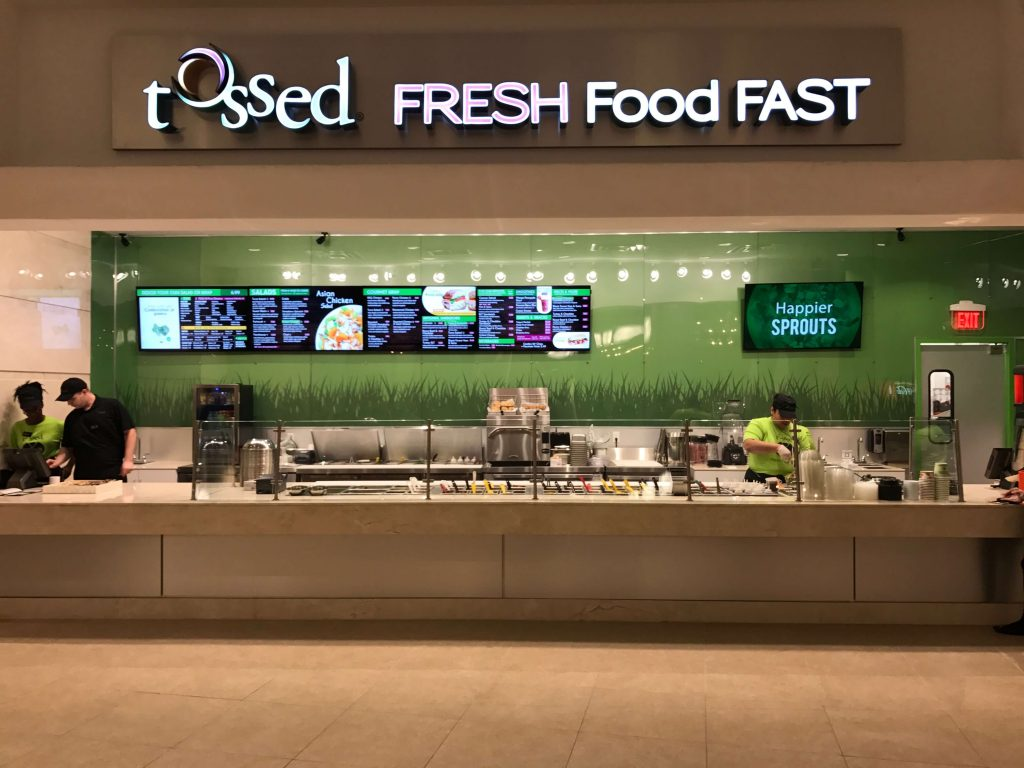 Tossed Restaurant Digital Menu Boards in Fortlauderdale