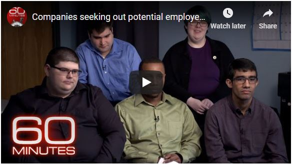 ABA Blog-60 Minutes on adults with autism seeking employment.