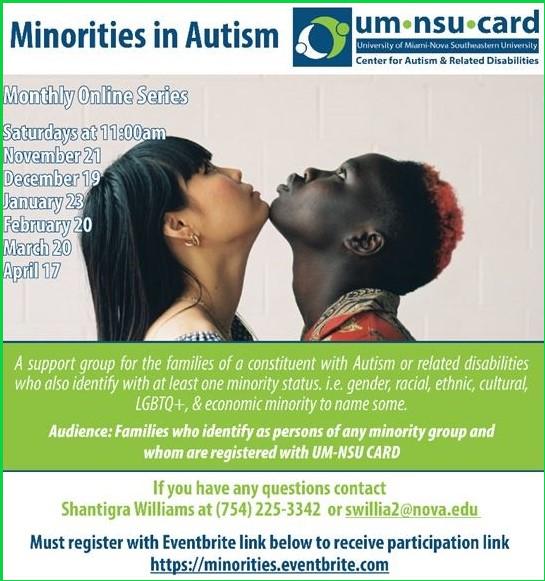 Virtual Events-Minorities in Autism