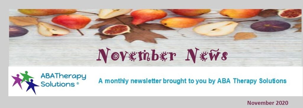 ABA Therapy Solutions' November Newsletter