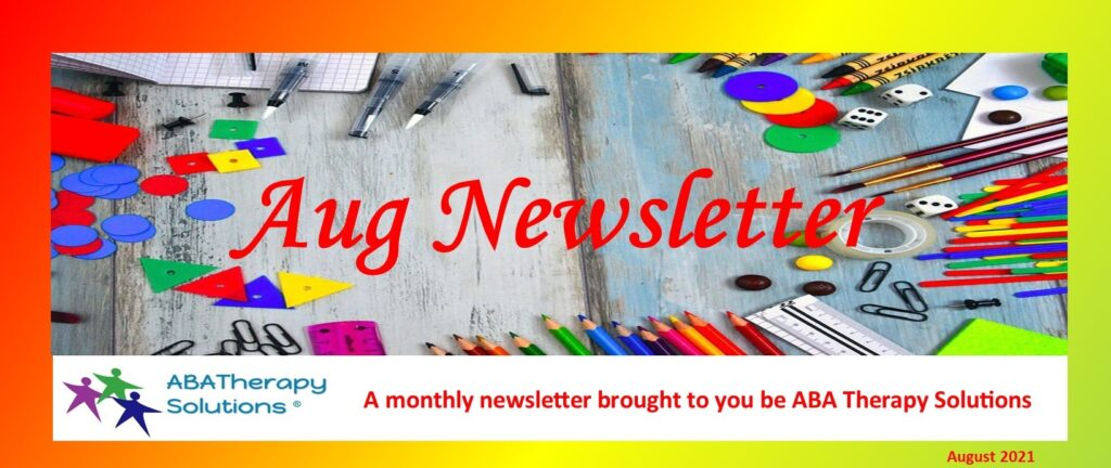 ABA Therapy Solutions August Newsletter