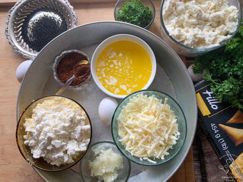 Boereg Ingredients on a table
