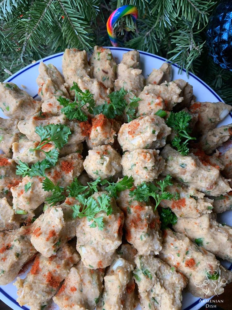 Armenian Vospov Kofte on a plate