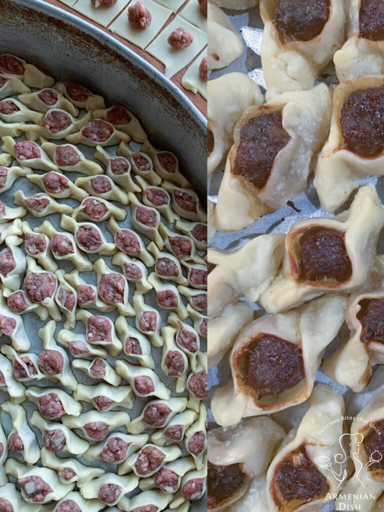 Tray of Baked Manti