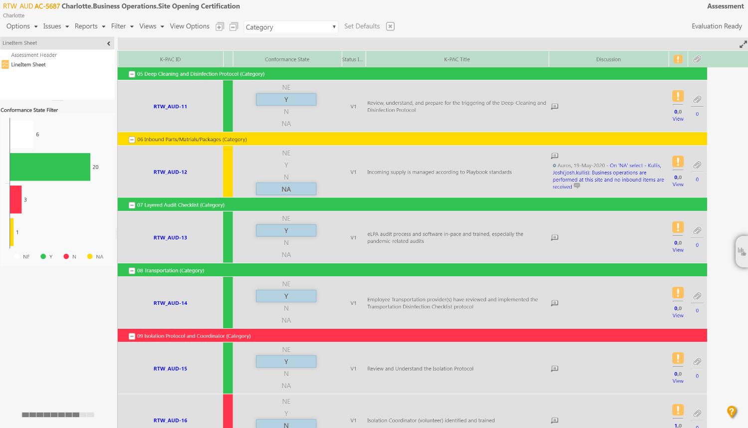 Standards Checklist