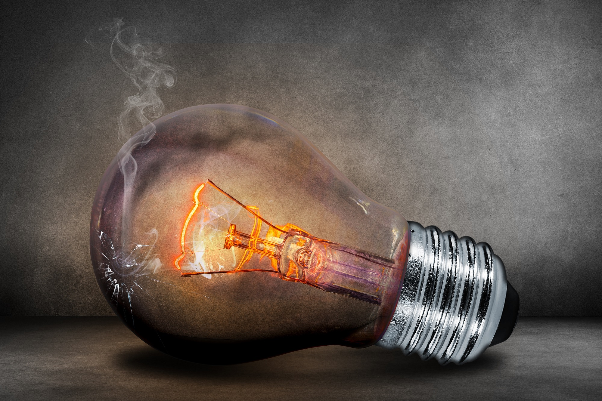 If the bulb is broken, get a new one!